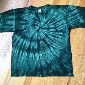 Forest green Tie Dye